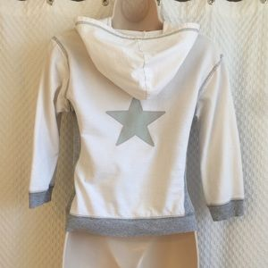 Forever 21 white zip up hoodie
